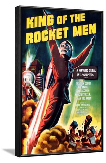 King of the Rocket Men, Tristram Coffin (In the 'Rocket Suit'), 1949--Framed Photo