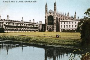King's and Clare Colleges, Cambridge, Cambridgeshire, Early 20th Century by E Dennis