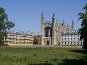 King's College, Taken From the Backs, Cambridge, Cambridgeshire, England, United Kingdom, Europe