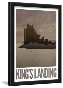 King's Landing Retro Travel Poster