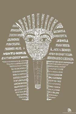 King Tut Text Poster