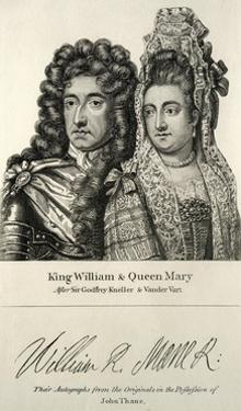 King William and Queen Mary Engraving