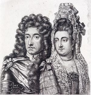 King William III and Queen Mary II of England
