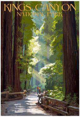 Kings Canyon National Park, California - Pathway and Hikers