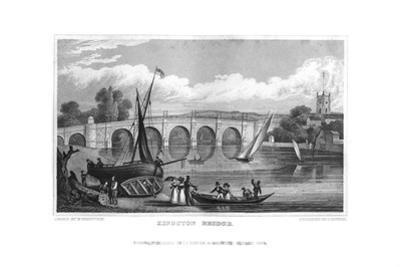 Kingston Bridge, London, 1829 by J Rogers