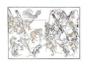 Retribution, the Rats and the Cat, 1878 by Kiosai Kiosai