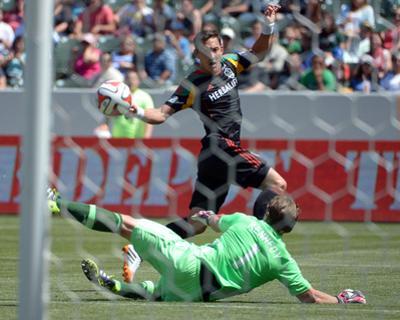 Apr 6, 2014 - MLS: Los Angeles Galaxy vs Chivas USA - Stefan Ishizaki, Dan Kennedy