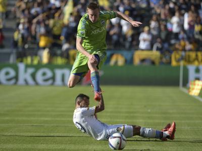 MLS: Seattle Sounders FC at LA Galaxy by Kirby Lee