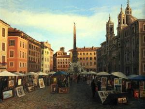 Piazza Navona In Rome by kirilstanchev
