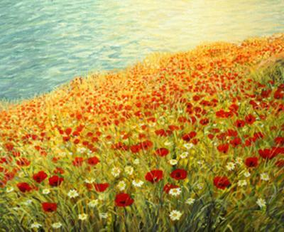 Poppies On The Seashore by kirilstanchev