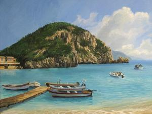 The Boats Of Paleokastritsa by kirilstanchev