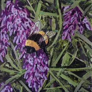 Buzz - Bumble Bee on Lavender by Kirstie Adamson