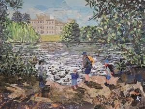 Feeding Ducks Elvaston Castle by Kirstie Adamson