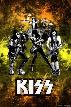 KISS - Colored Background