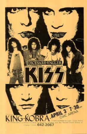 Kiss & King Kobra concert tour Music Poster