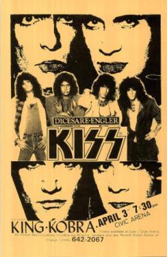 Kiss & King Kobra concert tour Music Poster