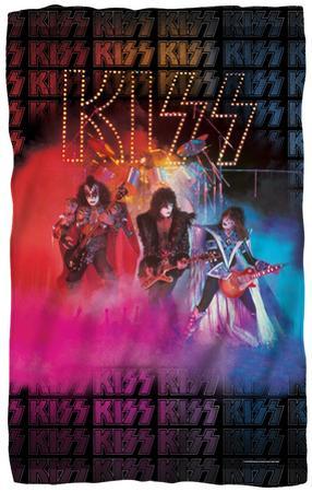 KISS - Stage Lights Fleece Blanket