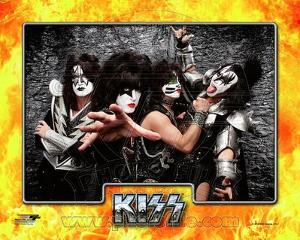 Kiss- Tommy Thayer, Paul Stanley, Eric singer, & Gene Simmons