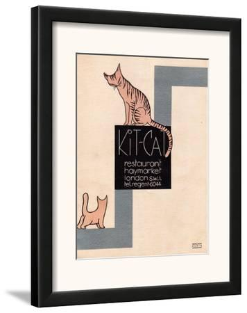 Kit Cat Resteraunt, Haymarket, London Poster 1