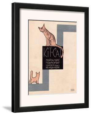 Kit Cat Resteraunt, Haymarket, London Poster 1