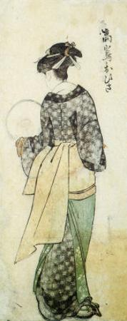 Back View of Ohisa by Kitagawa Utamaro