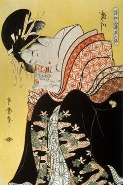 Beauty Takigawa from the Tea-House Ogi, Late 18th or Early 19th Century by Kitagawa Utamaro