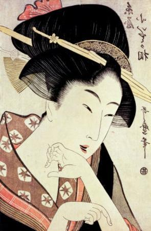 Bust Portrait of the Heroine Kioto of the Itoya by Kitagawa Utamaro