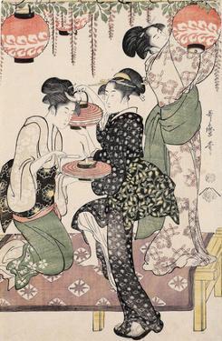 Girls under a Wisteria Espalier (1795) by Kitagawa Utamaro
