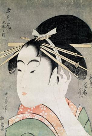 Head of a Woman by Kitagawa Utamaro