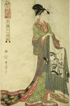 Hour of the Hare [6Am] (U No Koku), from the Series 'The Twelve Hours in Yoshiwara', C.1794 by Kitagawa Utamaro