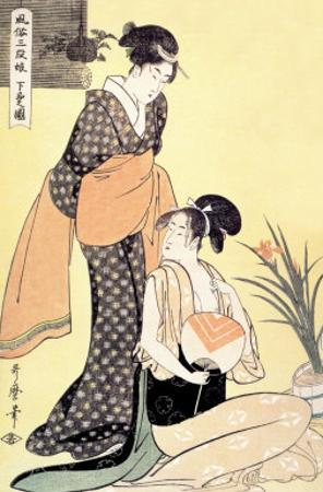 Japanese Domestic Scene by Kitagawa Utamaro