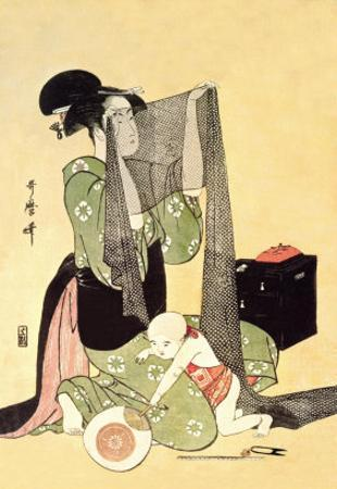 Japanese Mother and Child by Kitagawa Utamaro