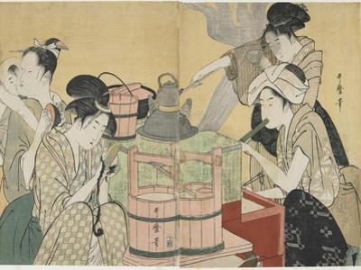 Kitchen Scene, 1794-1795 by Kitagawa Utamaro