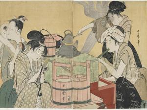 Kitchen Scene, 1794-1795 by Kitagawa Utamaro