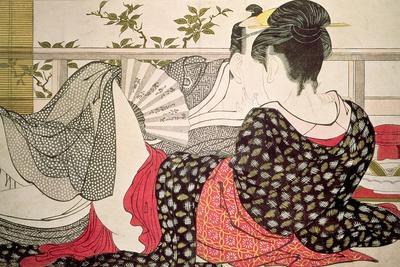 Lovers from the 'Poem of the Pillow' ('Uta Makura')