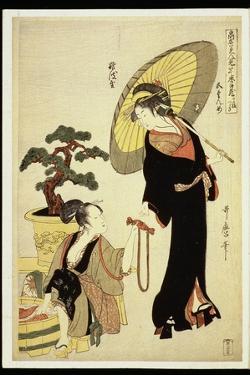 P.352-1945 Scene 5, Comparison of Celebrated Beauties and the Loyal League, C.1797 by Kitagawa Utamaro