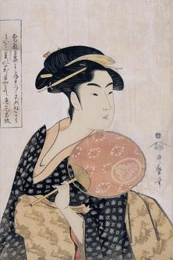 Takashima Ohisa (Ohisa of the Takashima Tea-Sho), C. 1793 by Kitagawa Utamaro