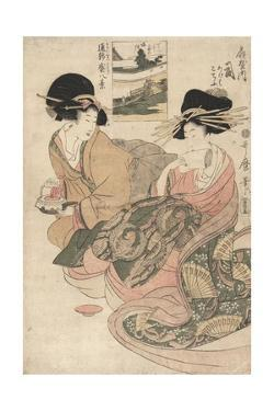 The Courtesan Tsukasa of ?giya by Kitagawa Utamaro