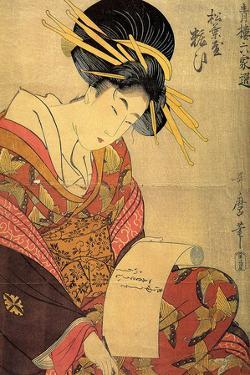 The Courtesan Yosooi of the Matsubaya House, C1800 by Kitagawa Utamaro