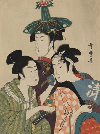 Three Women in Fashionable Hats by Kitagawa Utamaro