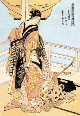 Two Musicians by Kitagawa Utamaro