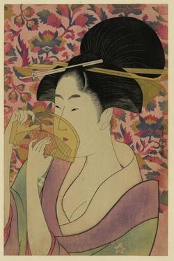 Using a Comb Like a Fan by Kitagawa Utamaro