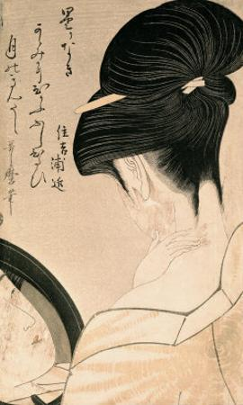 Woman Putting on Make-Up by Kitagawa Utamaro
