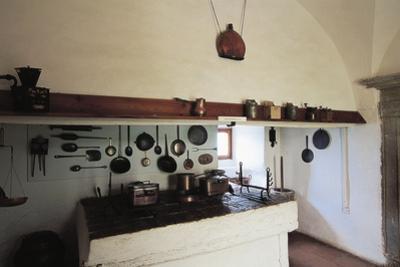 Kitchen in Krasna Horka Castle, Krasnohorske Podhradie, Slovakia