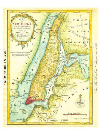 Map of New York City 1869