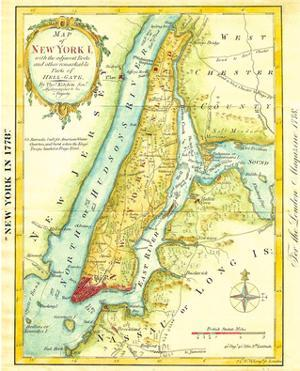 Map of New York City 1869 by Kitchen - Shannon