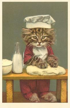 Kitten Making Bread