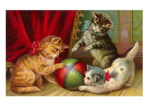 Kittens with Ball