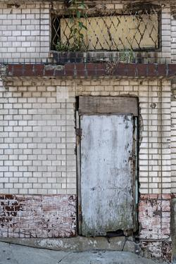 Grunge Brick Wall with Old Door by KitzCorner