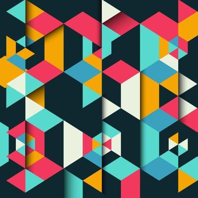 Abstract Geometric Background with a 3D Effect